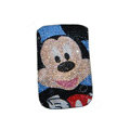 Luxury Bling Holster covers Mickey Mouse diamond crystal cases for iPhone 4G - Black
