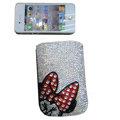 Luxury Bling Holster covers Minnie Mouse diamond crystal cases for iPhone 4G - White