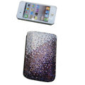 Luxury Bling Holster covers All Point diamond crystal cases for iPhone 4G - Purple
