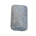 Luxury Bling Holster covers All diamond crystal cases for iPhone 4G - White