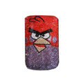 Luxury Bling Holster covers Angry Birds diamond crystal cases for iPhone 4G - Red