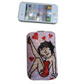 Luxury Bling Holster covers Beauty Girl diamond crystal cases for iPhone 4G - Pink