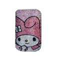 Luxury Bling Holster covers Cartoon Girl diamond crystal cases for iPhone 4G - Pink