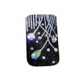 Luxury Bling Holster covers Grass diamond crystal cases for iPhone 4G - Black