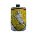 Luxury Bling Holster covers Metal Horse diamond crystal cases for iPhone 4G - Yellow