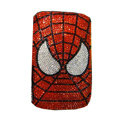 Luxury Bling Holster covers Spider diamond crystal cases for iPhone 4G - Red