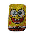 Luxury Bling Holster covers SpongeBob SquarePants diamond crystal cases for iPhone 4G - Yellow