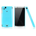 Nillkin Bright side skin cases covers for Sony Ericsson Xperia Arc LT15I X12 - Blue (High transparent screen protector)