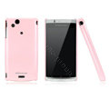 Nillkin Bright side skin cases covers for Sony Ericsson Xperia Arc LT15I X12 - Pink (High transparent screen protector)
