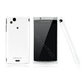 Nillkin Bright side skin cases covers for Sony Ericsson Xperia Arc LT15I X12 - White (High transparent screen protector)