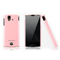 Nillkin Bright side skin cases covers for Sony Ericsson Xperia ray ST18i - Pink (High transparent screen protector)