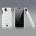 Nillkin Bright side skin cases covers for Sony Ericsson Xperia ray ST18i - White (High transparent screen protector)