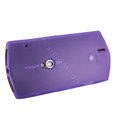 Nillkin matte scrub skin cases covers for Sony Ericsson MT15i XPERIA Neo Halon - Purple (High transparent screen protector)
