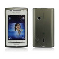 Nillkin matte scrub skin cases covers for Sony Ericsson X8 E15i - Black (High transparent screen protector)