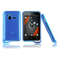 Nillkin matte scrub skin cases covers for Sony Ericsson Xperia active ST17i - Blue (High transparent screen protector)