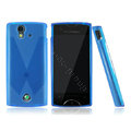 Nillkin matte scrub skin cases covers for Sony Ericsson Xperia ray ST18i - Blue (High transparent screen protector)