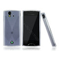 Nillkin matte scrub skin cases covers for Sony Ericsson Xperia ray ST18i - White (High transparent screen protector)
