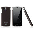 Nillkin skin cases covers for Sony Ericsson Xperia ray ST18i - Brown (High transparent screen protector)