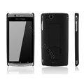 Nillkin skin cases with Stand covers for Sony Ericsson Xperia Arc LT15I X12 - Black (High transparent screen protector)