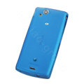 Nillkin matte scrub skin cases covers for Sony Ericsson Xperia Arc LT15I X12 - Blue (High transparent screen protector)