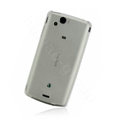 Nillkin matte scrub skin cases covers for Sony Ericsson Xperia Arc LT15I X12 - White (High transparent screen protector)