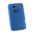 Nillkin matte scrub skin cases covers for HTC Wildfire A315C - Blue (High transparent screen protector)