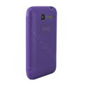 Nillkin matte scrub skin cases covers for HTC Wildfire A315C - Purple (High transparent screen protector)