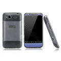 Nillkin scrub skin silicone cases covers for HTC Salsa G15 C510e - Black (High transparent screen protector)