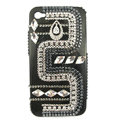 Bling Bow Swarovski crystals diamond cases covers for iPhone 4G - Black