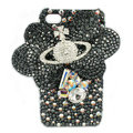 Bling Butterfly Planet Swarovski crystals diamond cases covers for iPhone 4G - Black
