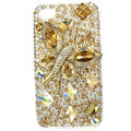 Bling Butterfly Swarovski crystals diamond cases covers for iPhone 4G - Gold