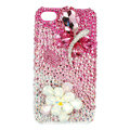 Bling Butterfly Swarovski crystals diamond cases covers for iPhone 4G - Pink