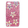 Bling Flower Swarovski crystals diamond cases covers for iPhone 4G - Rose