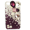 Bling Large crystal Swarovski crystals diamond cases covers for iPhone 4G - Red