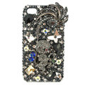 Bling Monkey Swarovski crystals diamond cases covers for iPhone 4G - Black