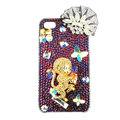 Bling Monkey Swarovski diamond crystals cases covers for iPhone 4G - Gold