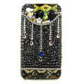 Bling Raindrop Swarovski crystals diamond cases covers for iPhone 4G - Black