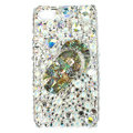 Bling Slippers Swarovski crystals diamond cases covers for iPhone 4G - White