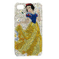 Bling Snow White Swarovski crystals diamond cases covers for iPhone 4G - Yellow