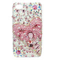 Bling Swarovski Bowknot crystal diamond cases covers for iPhone 4G - Pink