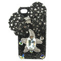 Bling Swarovski Butterfly crystal diamond cases covers for iPhone 4G - Black