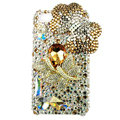 Bling Swarovski Butterfly crystal diamond cases covers for iPhone 4G - Gold