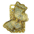 Bling Swarovski Butterfly crystal diamond cases covers for iPhone 4G - Yellow