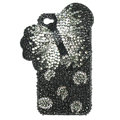 Bling Swarovski Butterfly crystals diamond cases covers for iPhone 4G - Black