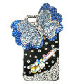Bling Swarovski Butterfly diamond crystal cases covers for iPhone 4G - Blue