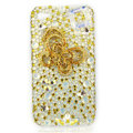 Bling Swarovski Butterfly diamond crystal cases covers for iPhone 4G - Yellow