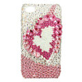 Bling Swarovski Heart covers diamond crystal cases for iPhone 4G - Pink