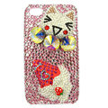 Bling Swarovski Hello kitty covers diamond crystal cases for iPhone 4G - Pink