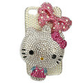 Bling Swarovski Hello kitty crystals diamond cases covers for iPhone 4G - Rose
