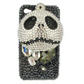 Bling Swarovski Skull diamond crystal cases covers for iPhone 4G - Black